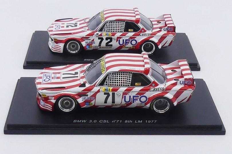 Les deux BMW 3.0CSL Luigi lors des 24 heures du Mans 1977