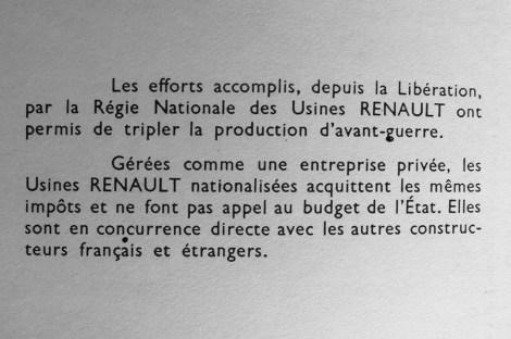 extrait du fascicule édité par la Régie Renault