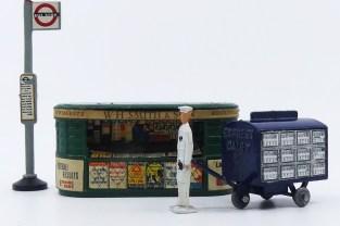 scènes de vie londonienne avec laitier électrique Benbros