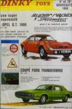 affichette avec la Ford Thunderbird et ses feux rouge