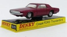 Dinky Toys Ford Thunderbird coupé 68 essai de couleur