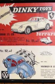 affichette Ferrari 275GTB Dinky Toys