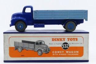 Dinky Toys Leyland Comet ridelles bleu pâle (jante bleu ) rare version