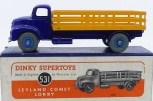 Dinky Toys Leyland Comet avec ridelles ajourées (jaune) avec jantes concave bleu