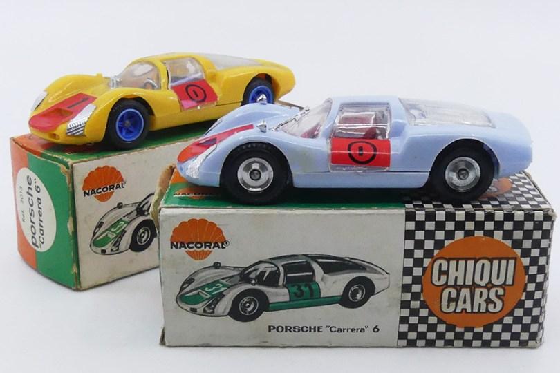 Nacoral (Espagne ) 1/43 Porsche Carrera 6 (modèle en plastique avec deux type de jantes)