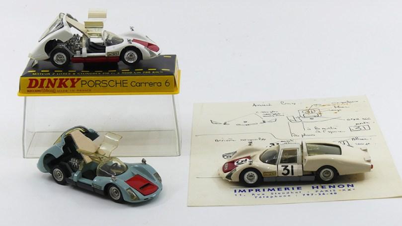 Dinky Toys Porsche Carrera 6 modèle de série et prototypes