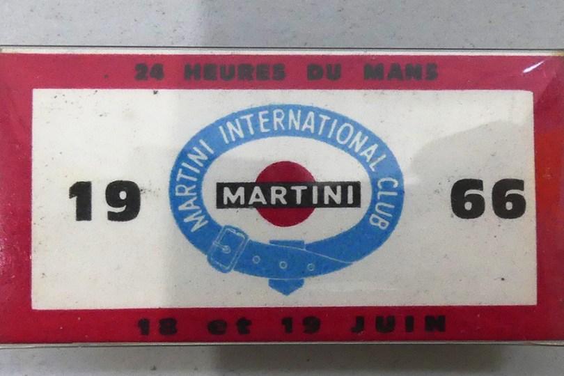 Le Mans 1966 : badge pour accéder dans le stand Martini (B.Azéma)