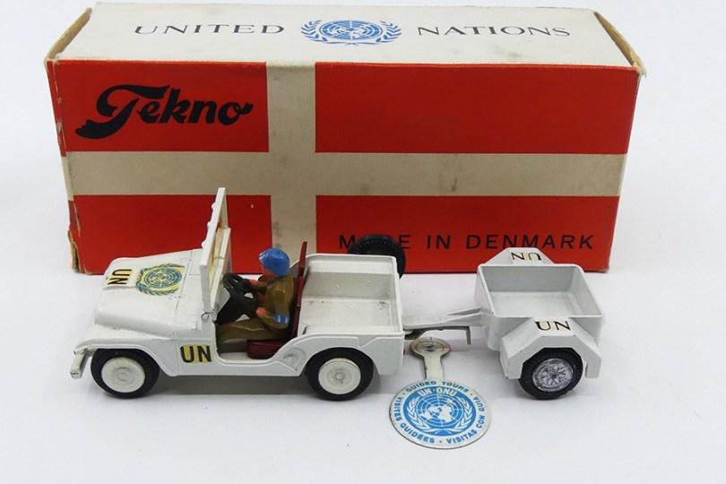 Tekno Willys United Nations avec remorque