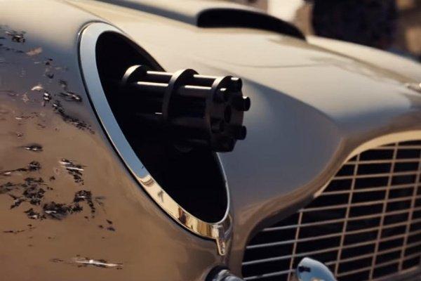 New Trailer Shows James Bond Using Headlight-popping Machine Gun On The Aston