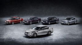 5 generaties BMW M5 op een rij