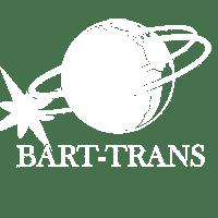 BART-TRANS logo - białe