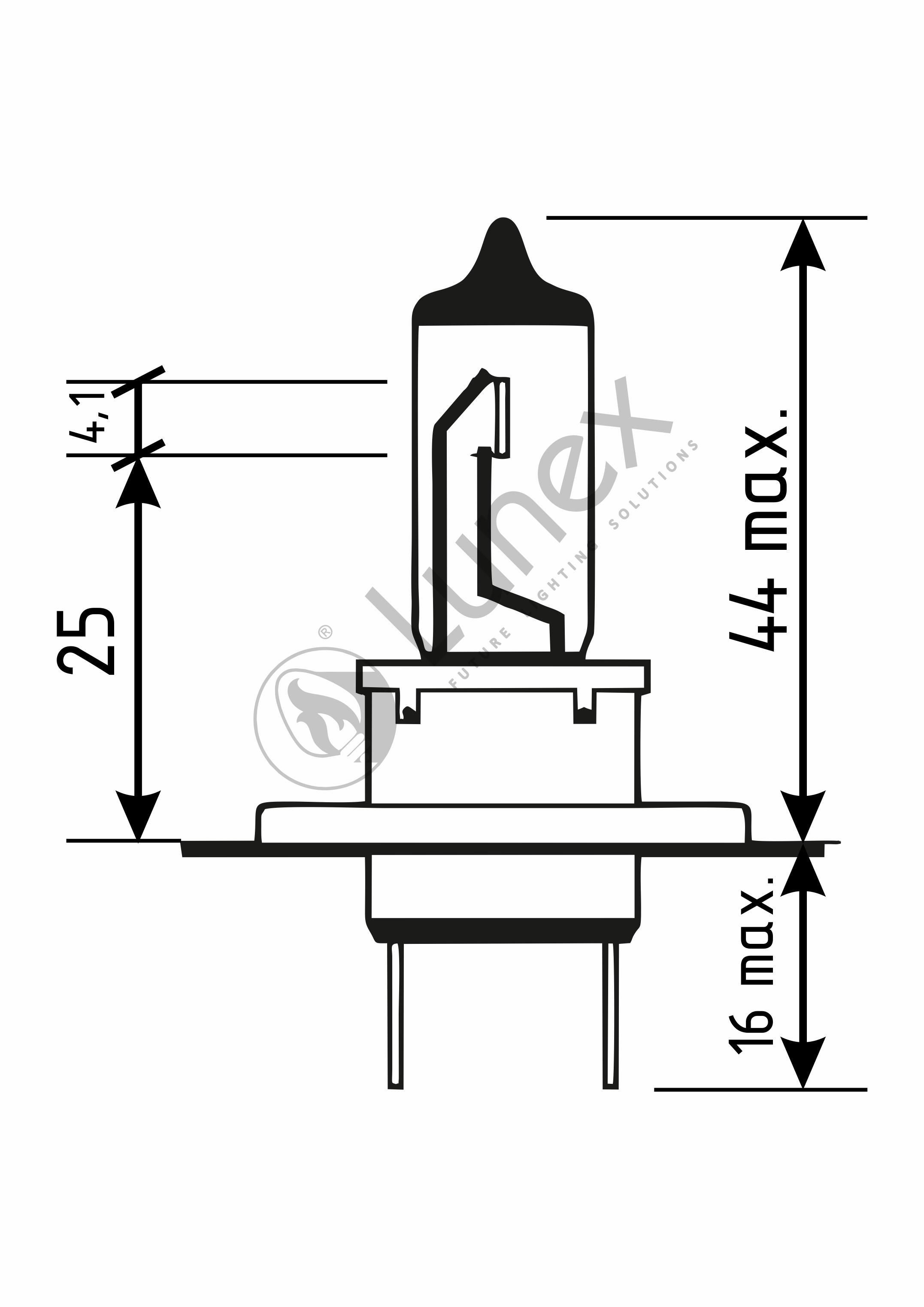 2 X H7 Halogen Headlamp Bulb Premium 477 12v 55w Lunex Long Life K