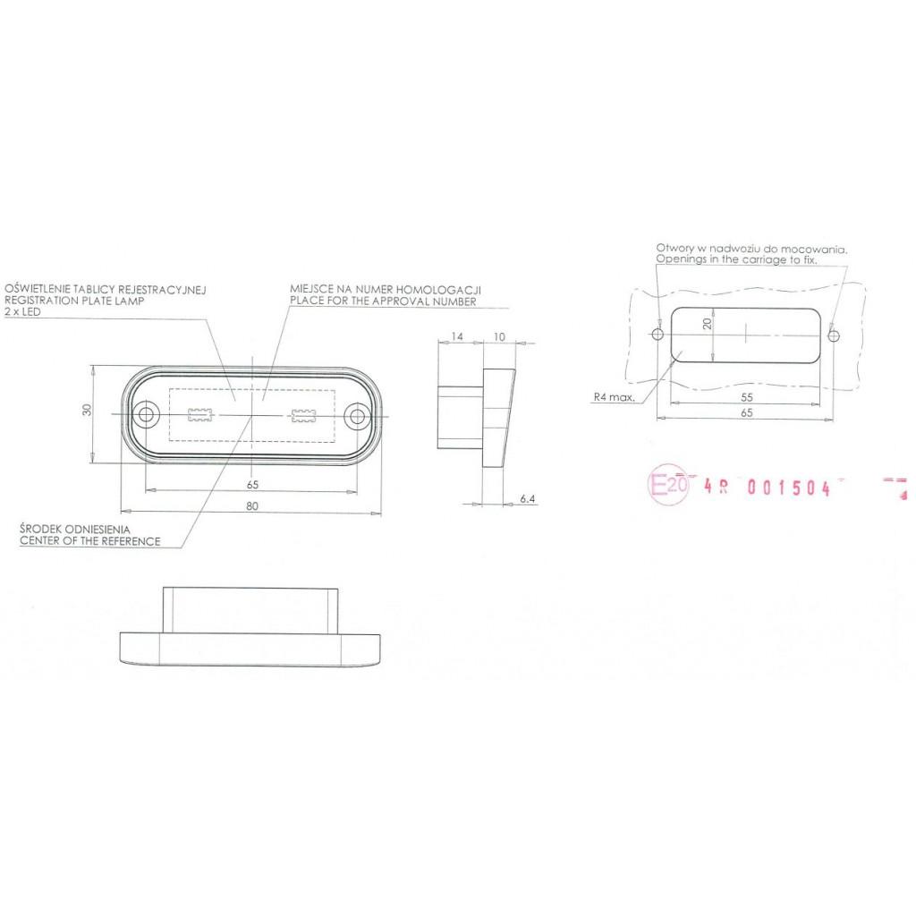 Led Numberplate Lamp 12v 24v 982