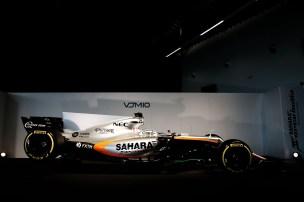 The Sahara Force India F1 VJM10. Sahara Force India F1 VJM10 Launch, Wednesday 22nd February 2017. Silverstone, England.