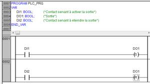 ProgrammatioProgrammation d'un SET / RESET en ladder