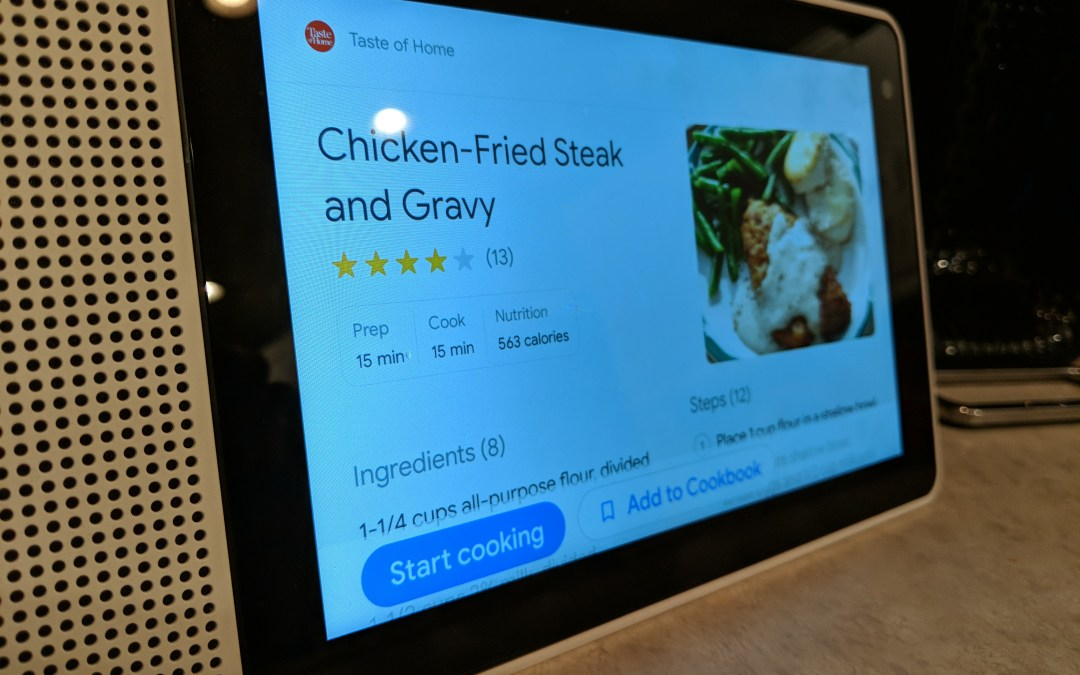 'Now you're cooking!' – Lenovo 8-inch Smart Display
