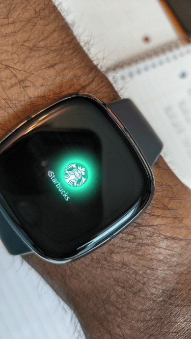 How to buy Starbucks with Fitbit Sense