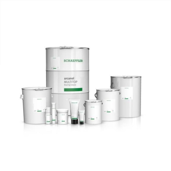 Schaeffler Arcanol greases are available in a range of containers and quantities, from a 70 gram tube to a 180 kilogram drum.