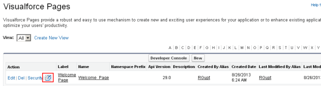 Visualforce Page Preview