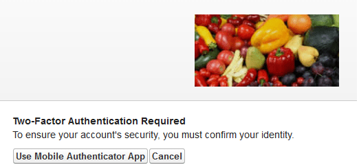 Two-Factor Authentication Required