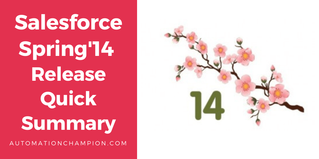 Salesforce Spring14 release quick summary