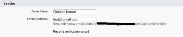 Sender Information