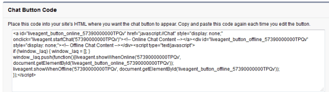 Chat Button Code