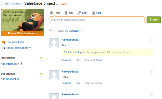 Delete all post from Chatter Group (Salesforce Project)
