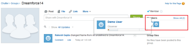 Dreamforce14 Chatter Group - Part 2