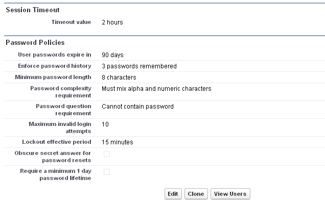 Set Session Timeout and Password Policies