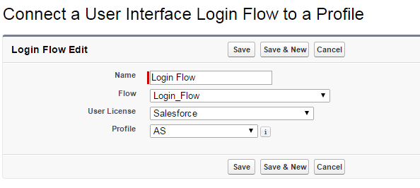 Create new login flow