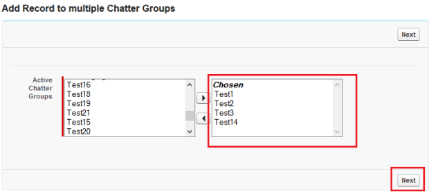 Selected Chatter Groups