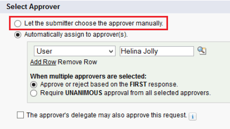 Select Approver