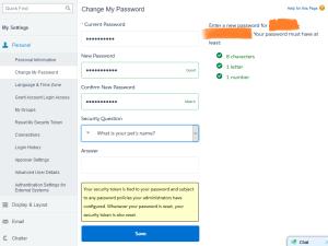 New UI to change password