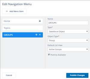 Add Groups to Napili Template