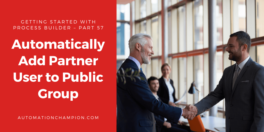 Getting Started with Process Builder – Part 57 (Automatically Add PartnerUser to Public Group)
