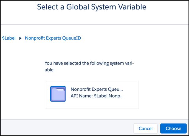 Select a Custom Label