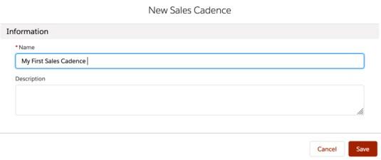 HVS - Create a Sales Cadence 3