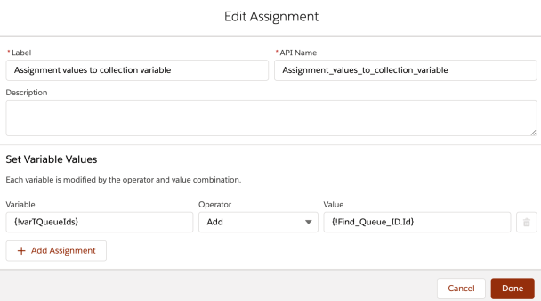 Process Builder 98.4 - Assignment Element