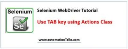 How to use tab key (button) in selenium WebDriver?