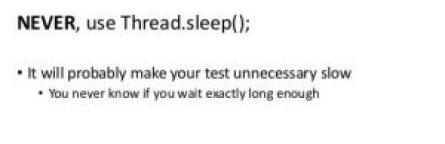 thread.sleep() in selenium
