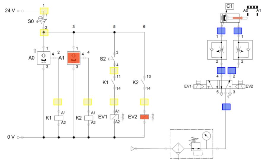 Detección de averías en circuitos neumáticos