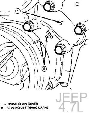 DODGE  CHRYSLER  JEEP | CADENA DE TIEMPO  TIMING CHAIN | MOTOR 47L  V8 | SINCRONIZACION