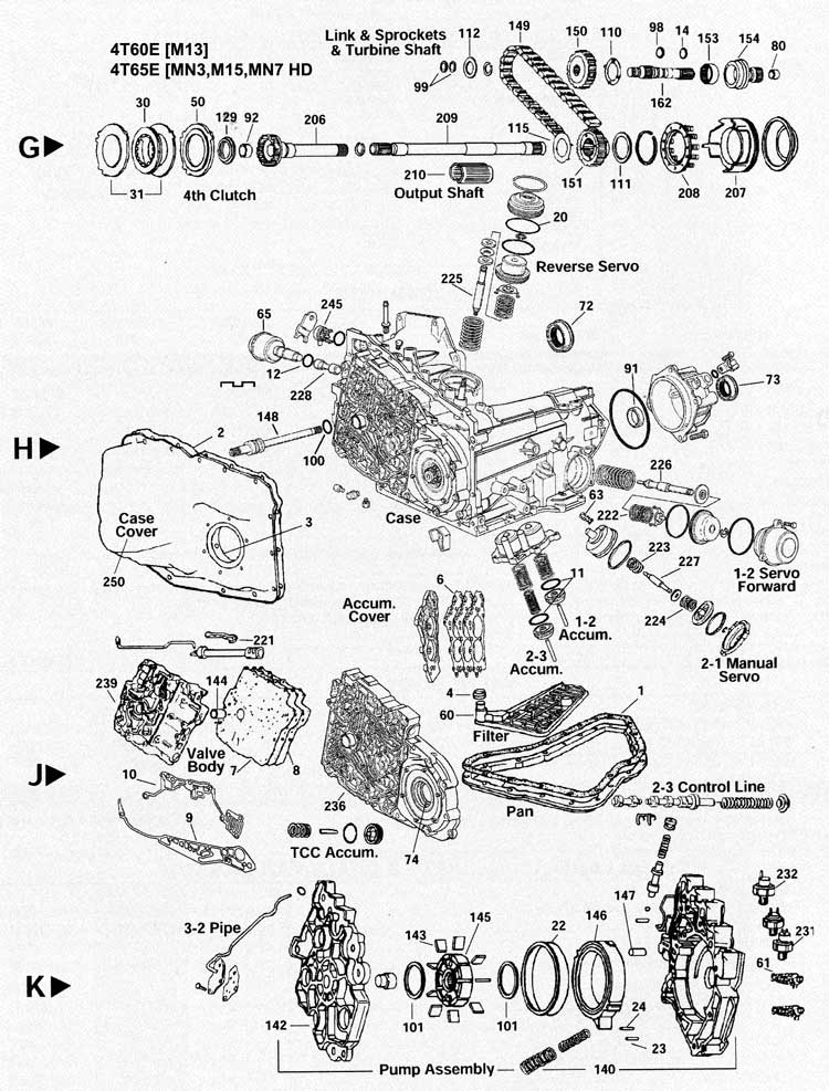 4t60e Transmission Exploded View
