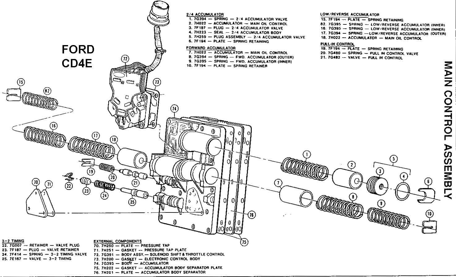 Ford Transmisiones Automaticas Componentes Despiece