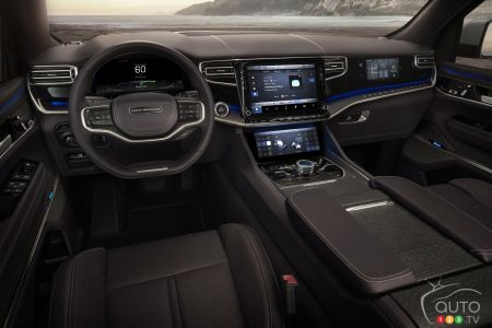 The Jeep Grand Wagoneer concept, interior