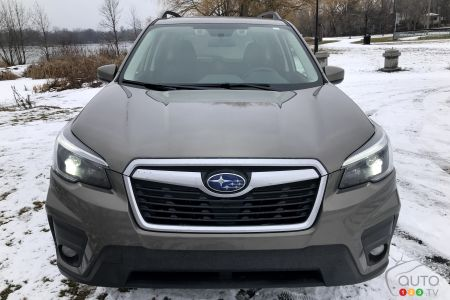 The 2021 Subaru Forester Touring,  front