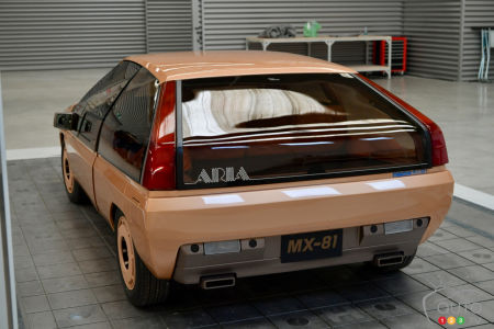 The MX-81 Aria, three-quarters rear
