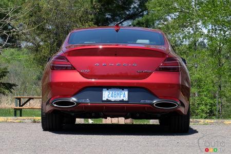 2022 Genesis G70, rear