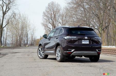 2022 Buick Envision Avenir, three-quarters rear